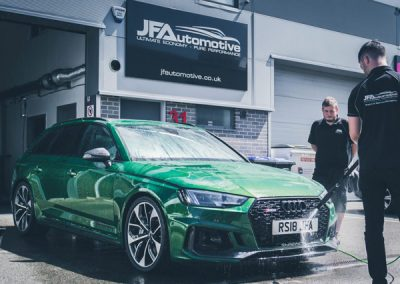 JF Automotive washing an Audi