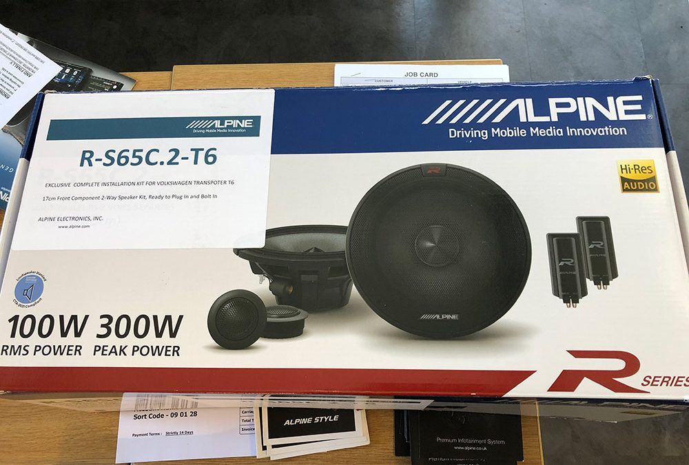 Alpine complete speaker installation kit for VW T6 Transporter – Supplied and fitted for £435.00